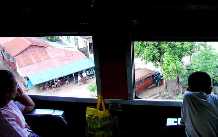 upper class train scenery / yangon . burma