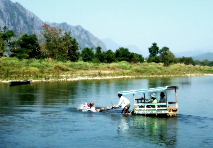 water cooled engine / vang vieng . laos 2546