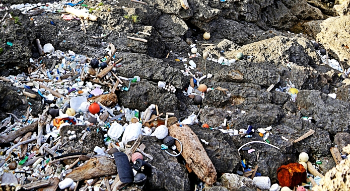 garbage coast in ryukyu archipelago