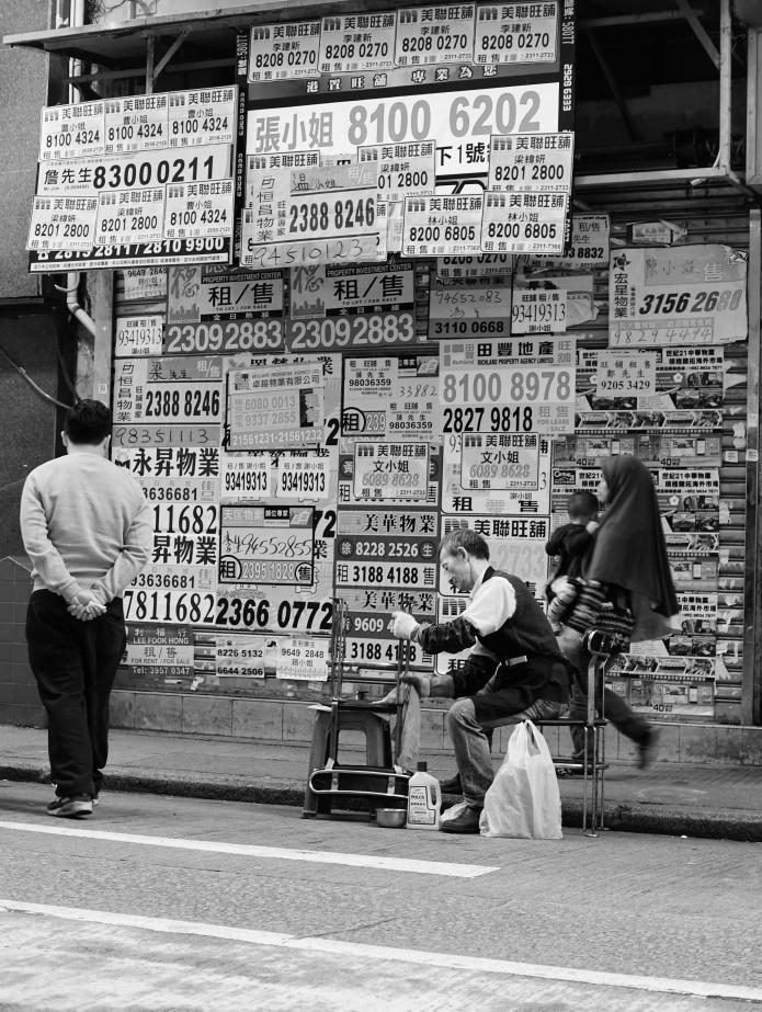 wan chai street scenery