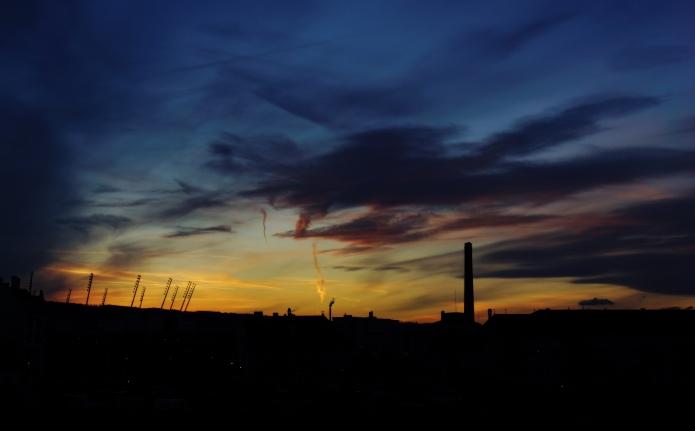 sunset over letzigr(o)und